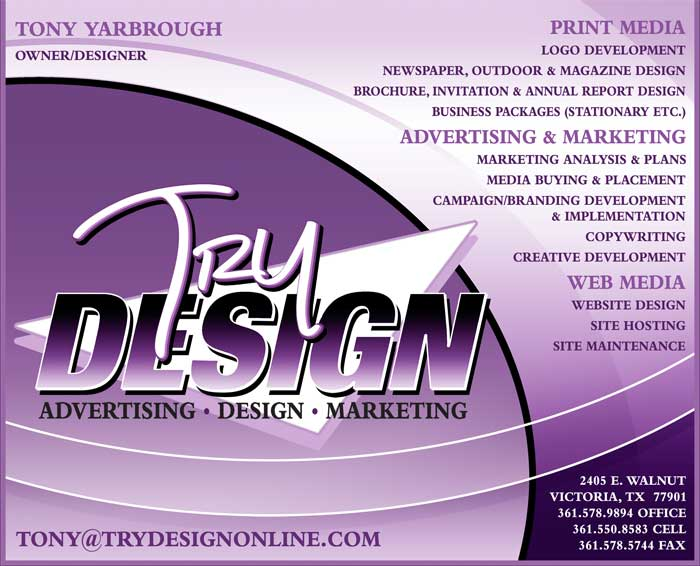 TRY Design Victoria Texas Graphic Design
